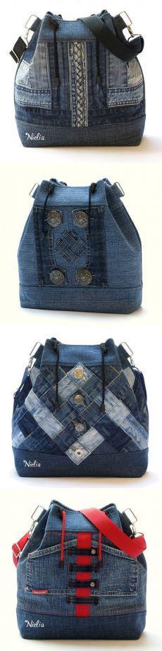 Сумка из джинсов: разные модели с фото мастер-классами