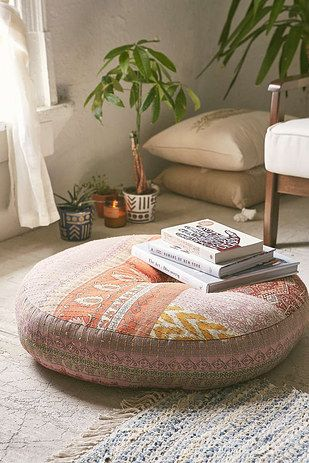 Cover your home in comfy cushions. | 17 Ways To Make Your Home Look Like A Hippie Hideaway