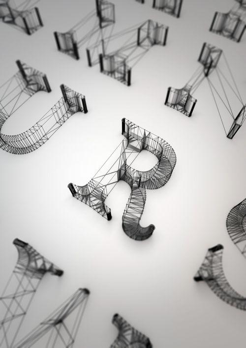 3D Tipography - Dan Hoopert