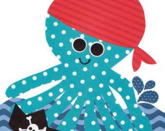 Arte pirata guardería náutica imprime vivero por 3000yardsofthread