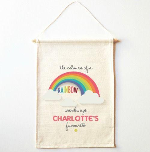 Bandera del arco iris de la pared banderines dormitorios - Cabeceras pintadas en la pared ...