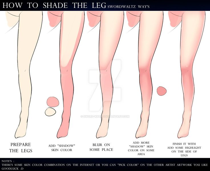 HOW TO SHADING THE LEGS by Sword-Waltz.deviantart.com on @DeviantArt