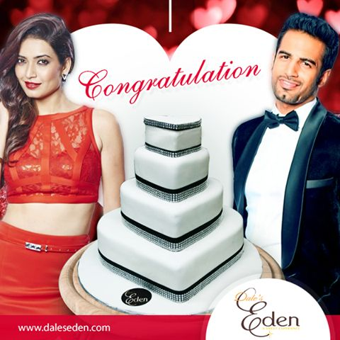 Karishma Tanna and Upen Patel World engagement cake made by Eden.  #Engagement #Celebration #AmazingCakes
