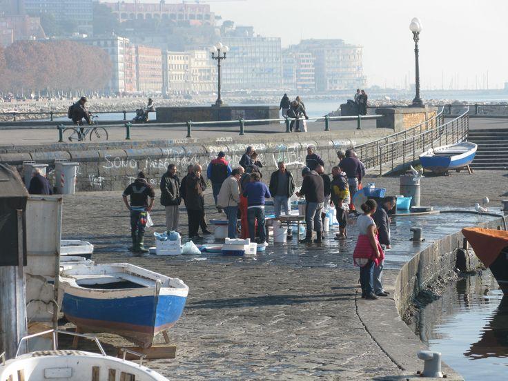 Napoli, pesce appena pescato a Via Caracciolo