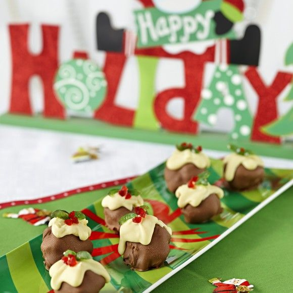 Choccy Ice Cream Xmas Puddings Recipe by Cadbury Kitchen