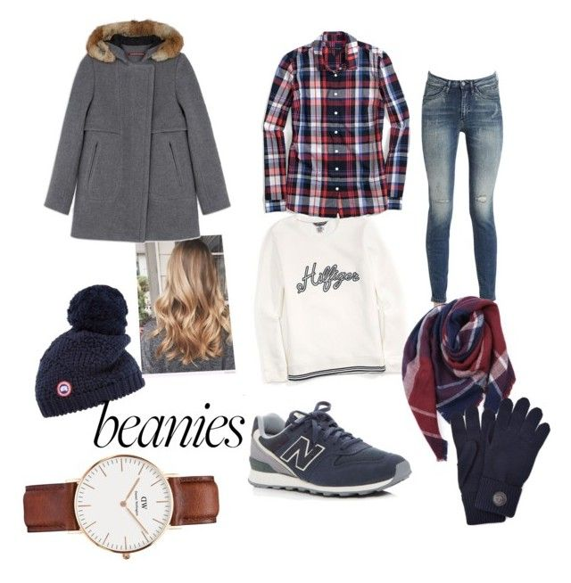 """""""Untitled #38"""" by giorgiatonelli ❤ liked on Polyvore featuring Canada Goose, Calvin Klein Jeans, Tommy Hilfiger, Everest, New Balance, Dsquared2 and Daniel Wellington"""