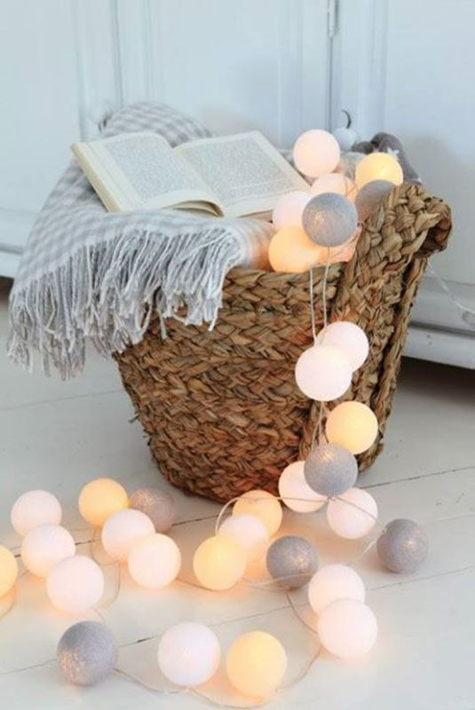 Lichtslingers van Cotton Ball Lights - Inspiratie