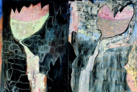 Grotta och vattenfall by Leena Luostarinen 1988