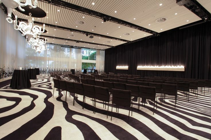 Feltex Custom Woven Carpet | Ivy Ballroom in Sydney | #commercialcarpet #feltex #zebracarpet