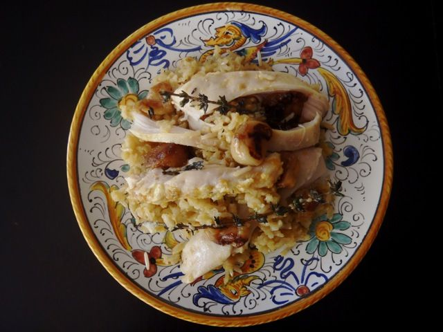 roasted garlic chicken with basmati rice