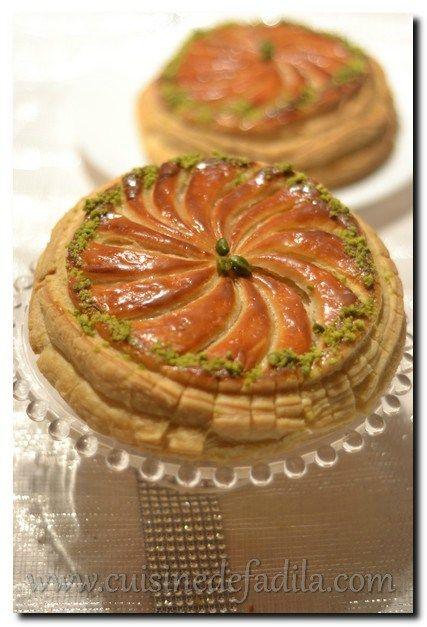 Galette des rois pistache abricot