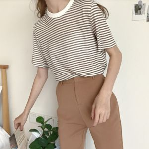 Brown Stripe Tee