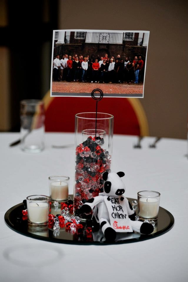 Our Table Decorations Used At Our Symbol Of Success Awards