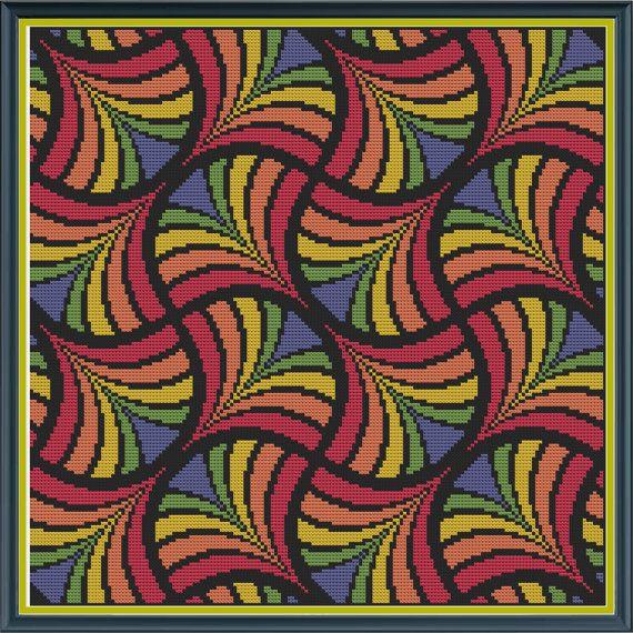 Geometrik 10 Hayranları HornswoggleStore tarafından Çapraz Dikiş Sayılan