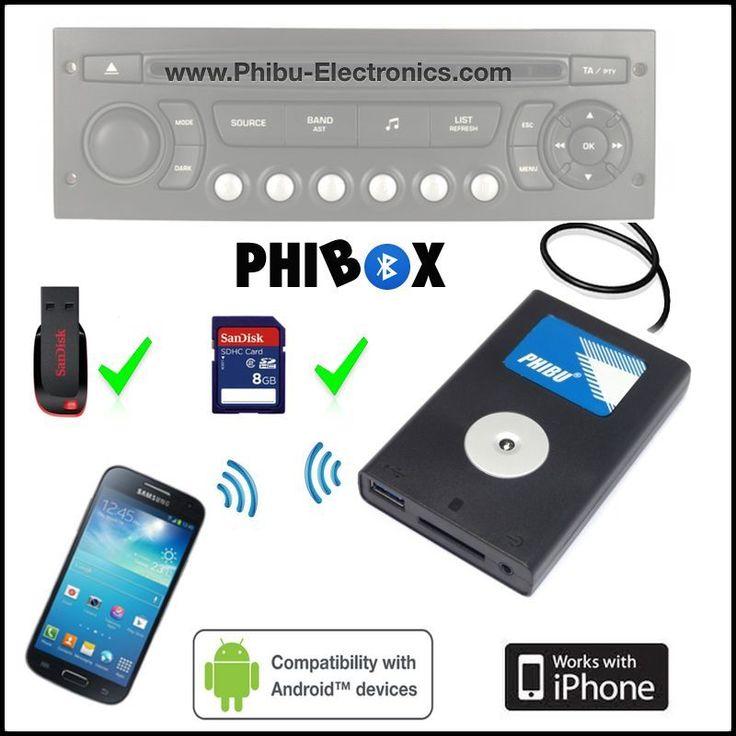 Adaptateur interface Bluetooth, USB /autoradio Citroen VAN type 2 / chargeur CD