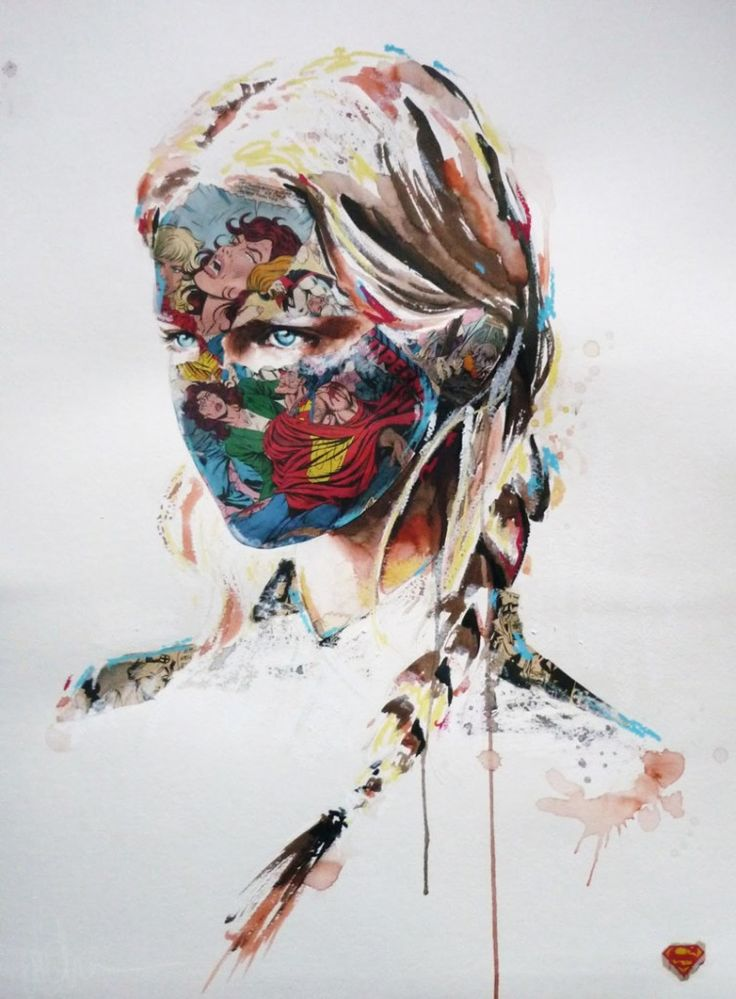 Comic Book Portrait Collages by Sandra Chevrier