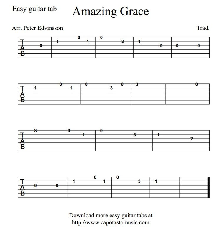 Amazing Grace Free Piano Sheet Music With Lyrics: 25+ Best Ideas About Amazing Grace Guitar Chords On