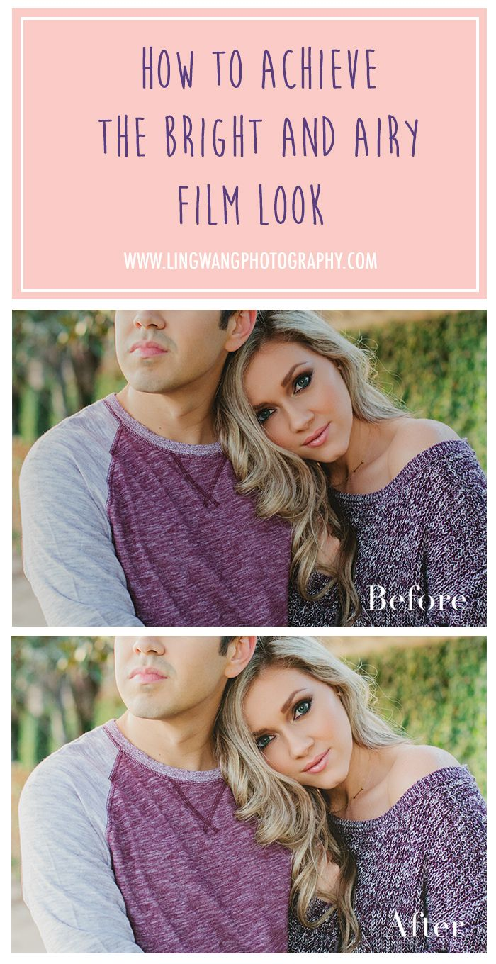 How to achieve the bright and airy film look in Photoshop