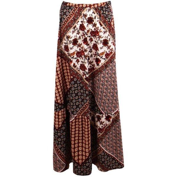 Boohoo Anouk Ruffle Detail Woven Maxi Skirt ($24) ❤ liked on Polyvore featuring skirts, midi maxi skirt, maxi skirts, long pleated skirt, long maxi skirts and midi skirt