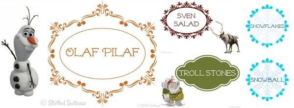 Frozen Party Printables for Family Movie Night and Dinner Menu ...