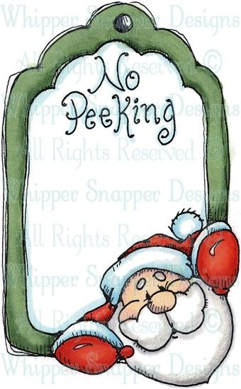 No Peeking Tag - Christmas Images - Christmas - Rubber Stamps - Shop
