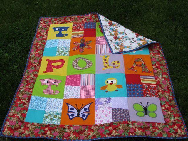 Medium baby quilt for Pola