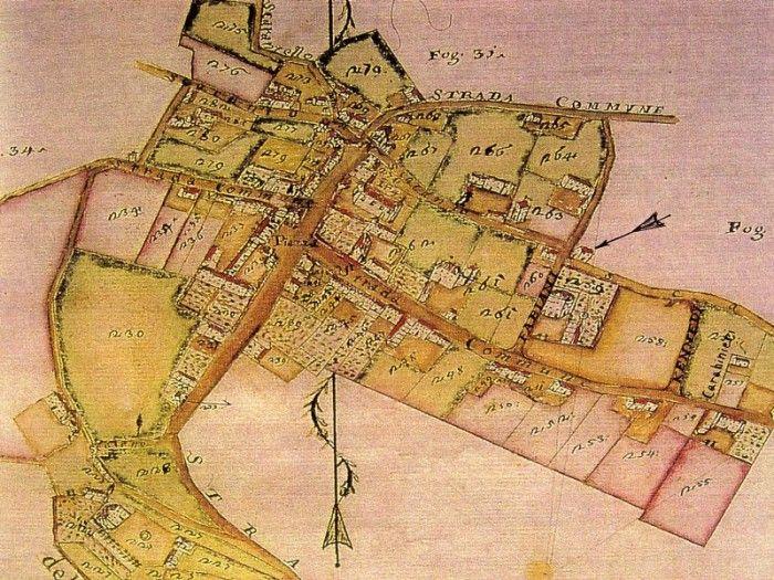 Barbarano Vicentino (Vicenza) Mappa antica Colli Berici - Vicenza