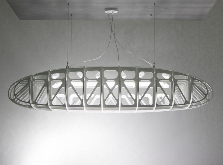 duża nowoczesna lampa wisząca - W POWIETRZU