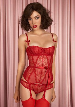 agent provocateur red lingerie