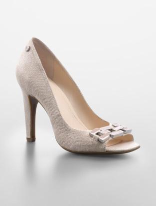 sebrina open-toe pump - wear to work- Calvin Klein