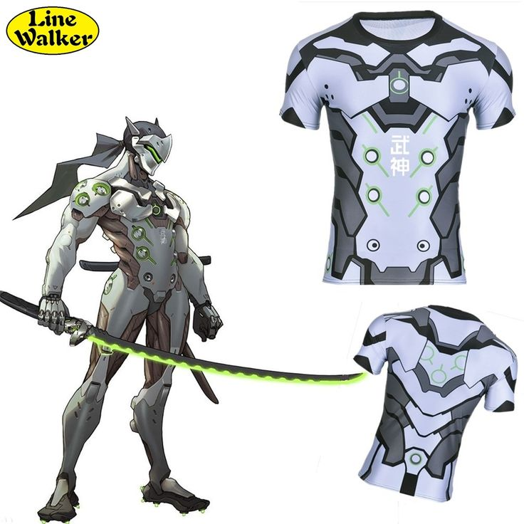 \Line Walker\ fashion T shirt OW cosplay Srever Genji Watch Over Men Tee clothes close fitting T Shirt compression shirt-in T-Shirts from Men's Clothing & Accessories on Aliexpress.com | Alibaba Group