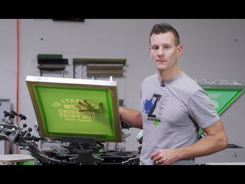 How To Screen Print on Moisture Wicking Performance Garments by Hanes - YouTube