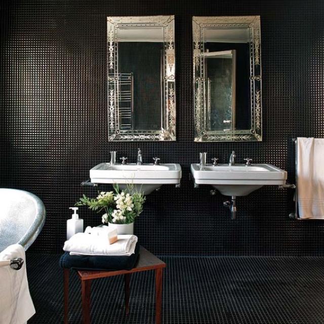 all black tile black tile