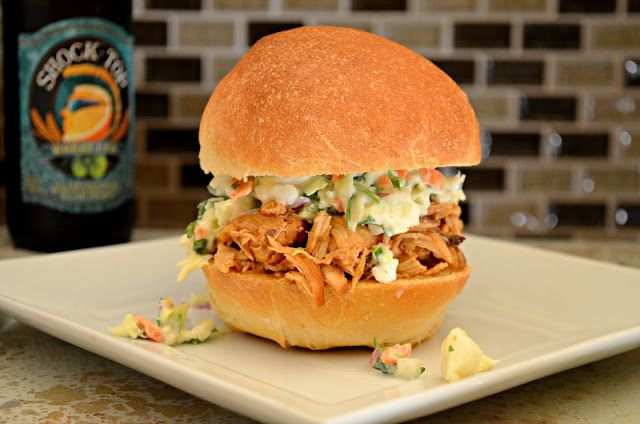 Easy Crock-pot Pulled Chicken With Homemade BBQ Sauce