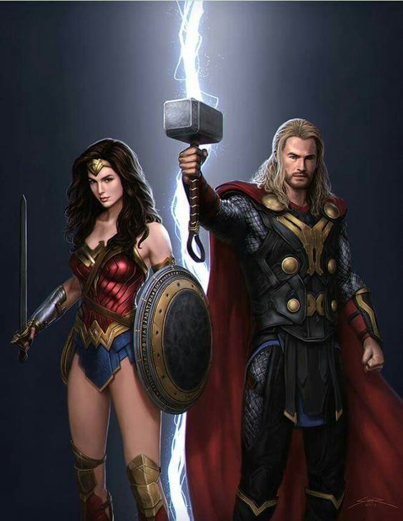 Wonder and Thunder (Wonder Woman and Marvel's Avengers - Thor