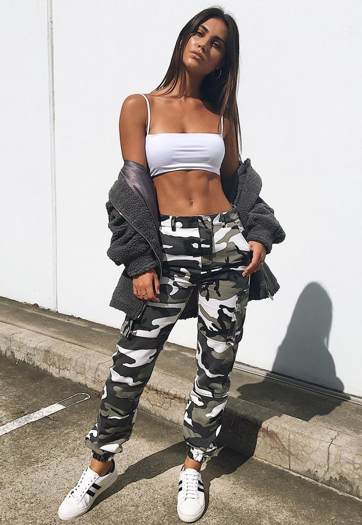 Premium Gray Camo Printed Cargo Pants In 2019 Outfits