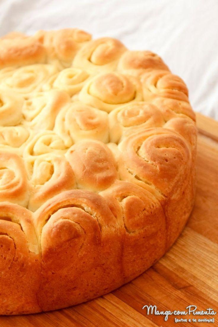 Pão Caracol ou Enroladinho com Manteiga, para ver a receita, clique na imagem para ir ao Manga com Pimenta.