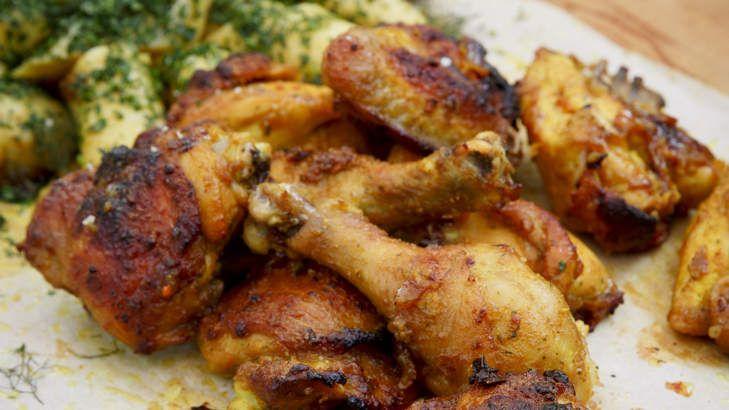 Karen Martini's 'fried' chicken with a healthy twist. Serves 8-10.