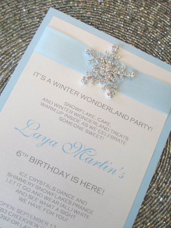 Winter Wonderland Invitation Frozen Invite by PurpleandPlatinum, $4.25