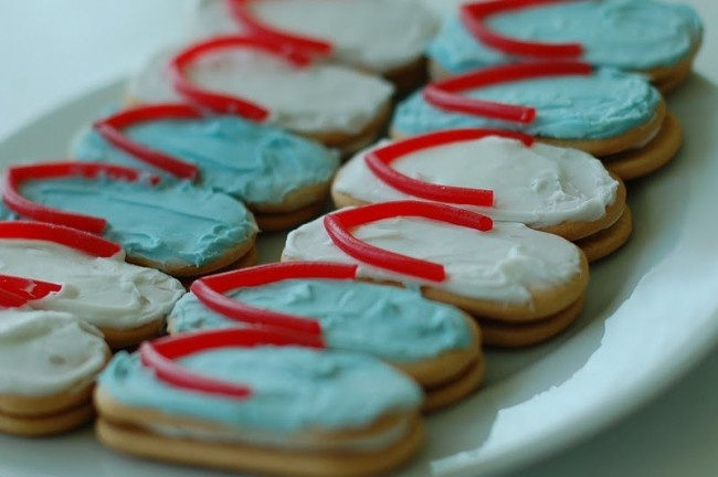 Flip flop cookies: Pool Parties, Flop Cookies, Food, Beach Party, Summer Party, Flip Flops, Party Ideas, Birthday Party