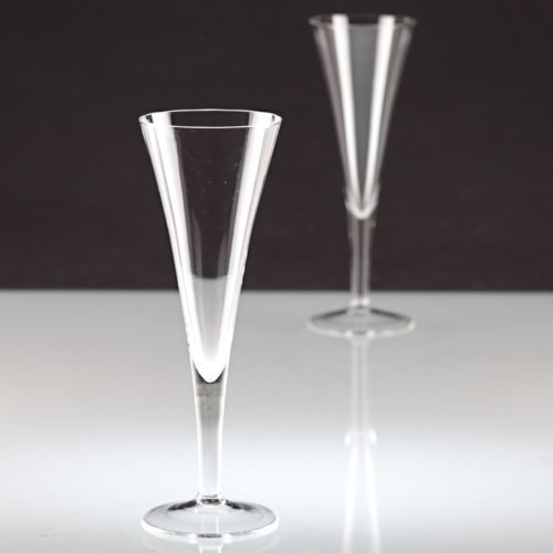 2-schlichte-Vintage-Sektglaeser-Sektkelche-Sektglas-innen-gewellt-Glas-20er-K60