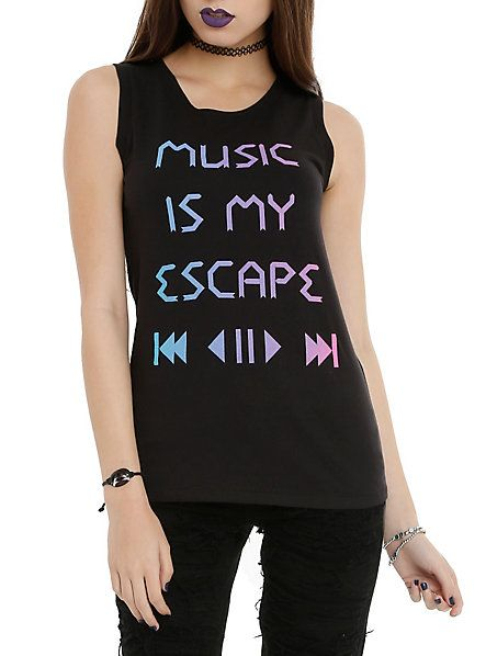 http://www.hottopic.com/hottopic/Girls/Tees/Music Is My Escape Girls Muscle Top-10351469.jsp