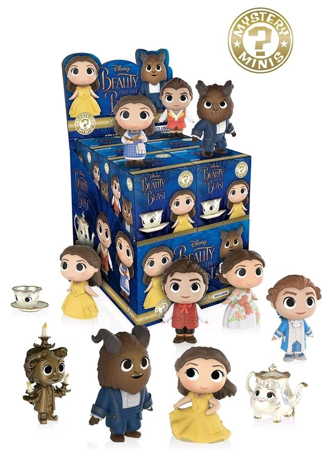 Funko Mystery Minis Blind Box - Beauty & the Beast (Hot Topic) set of 12