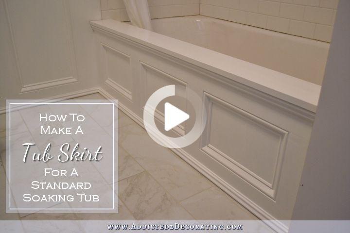 このdiy浴槽のスカート 化粧パネル を使用して 標準のサイド