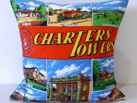 Charters Towers Cushion Cover Queensland Pillow by Lapideum