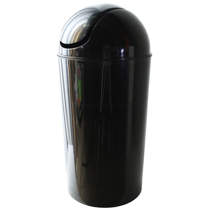 Dial Industries E2056KM 56 Quart Metallic Black Swing Bin (Swing Bin 56qt Mt Bk), Size 10-14 Gallons