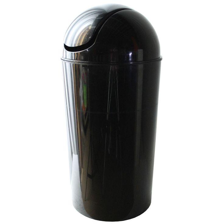 Dial Industries E2056KM 56 Quart Metallic Black Swing Bin (Swing Bin 56qt Mt Bk), Size 10-14 Gallons