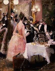Akseli Gallen-Kallela: After the Opera Ball  Oil, 1888, 27 x 21 cm  Wulff Collection.