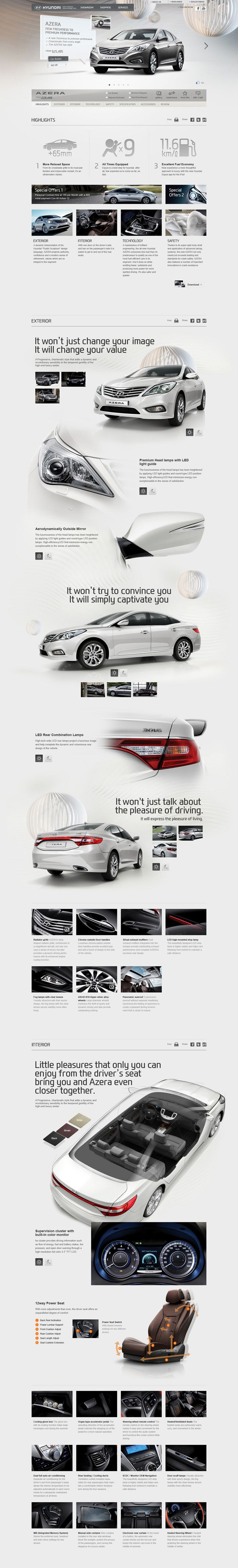 Cool Automotive Web Design on the Internet. Hyundai. #automotive #webdesign @ http://www.pinterest.com/alfredchong/automotive-web-design/