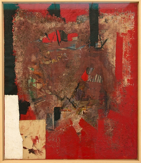 Alberto Burri (Città di Castello, March 12, 1915 - Nice, February 13, 1995), was an Italian abstract painter and sculptor. Città di Castello has memorialized him with a large permanent museum of his works. His work is related to Tachisme and Lyrical Abstraction.